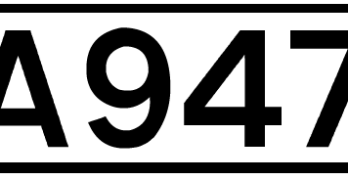 A947 road number sign
