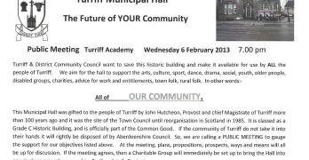 Turriff Community Hall public meeting notice