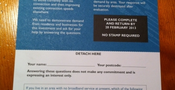 Aberdeenshire Broadband Survey card