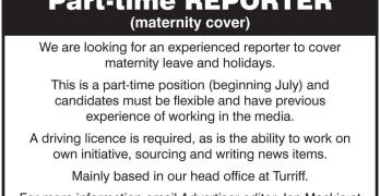 Turriff Advertiser reporter job advert