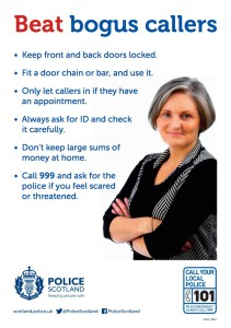 Beat Bogus Callers poster from Police Scotland