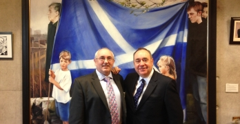 Eric Rae and First Minister Alex Salmond