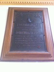 Turriff Municpal Hall commemorative plaque