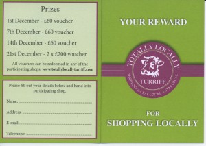Totally Locally Turriff loyalty card