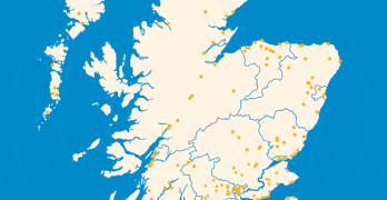 Queens Baton Relay map