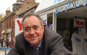 Alex Salmond on the Yes Aberdeenshire campaign trailer