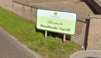 Welcome to Woodheads sign from Google Street View