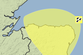 Met Office yellow weather warning Aberdeenshire