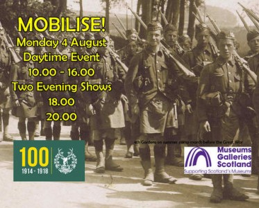 Mobilise flyer from the Gordon Highlanders Museum