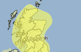 Yellow alert for rain Sunday 3 August