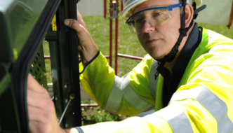 BT Engineer working on super fast broadband cabinet