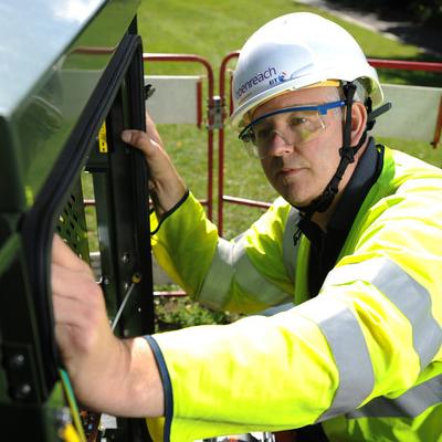 BT Engineer working on super fast broadband cabinet