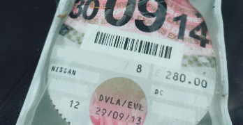 vehicle tax disc