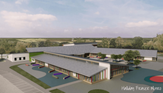 Artists impression of the new Markethill Primary School