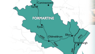 Map showing the Formartine area of Aberdeenshire