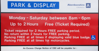 Card payment function removed from Aberdeenshire car parks