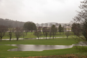 Flooding at Turriff Golf Club