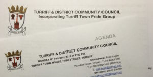 Agenda for the January 2017 Turriff & District Community Council meeting