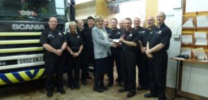 ACE Winches donate £250 to Turriff Fire station