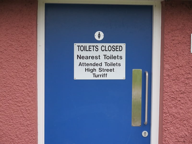 Sign on Haughs public toilets