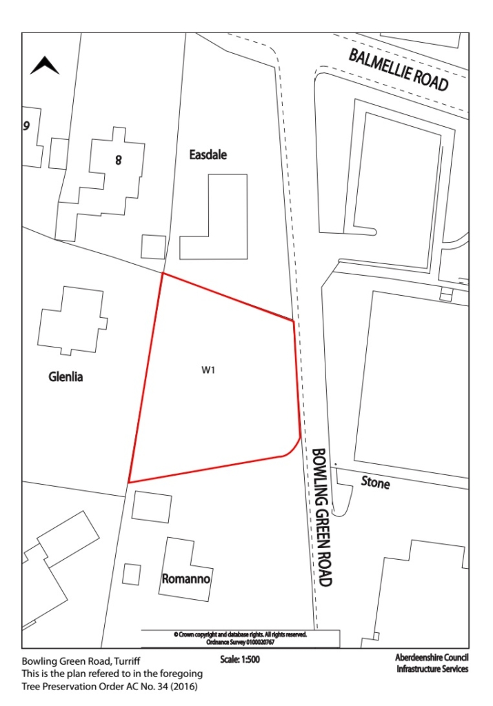 The area covered by tree preservation order 34