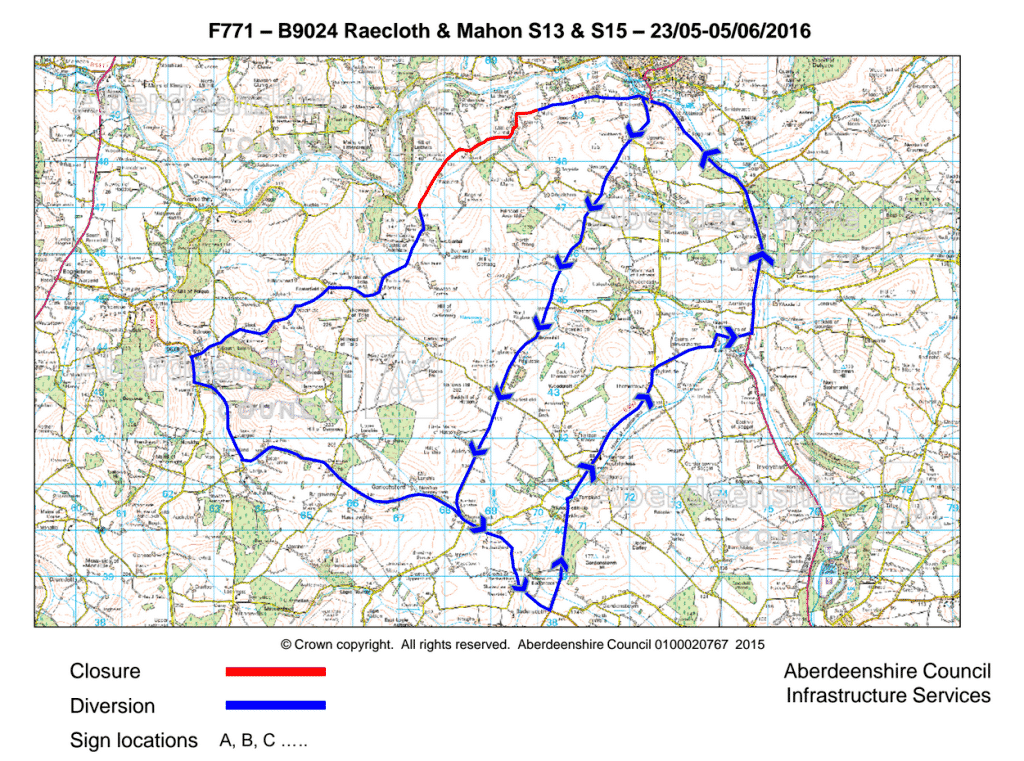 B9024 closure and diversion routes