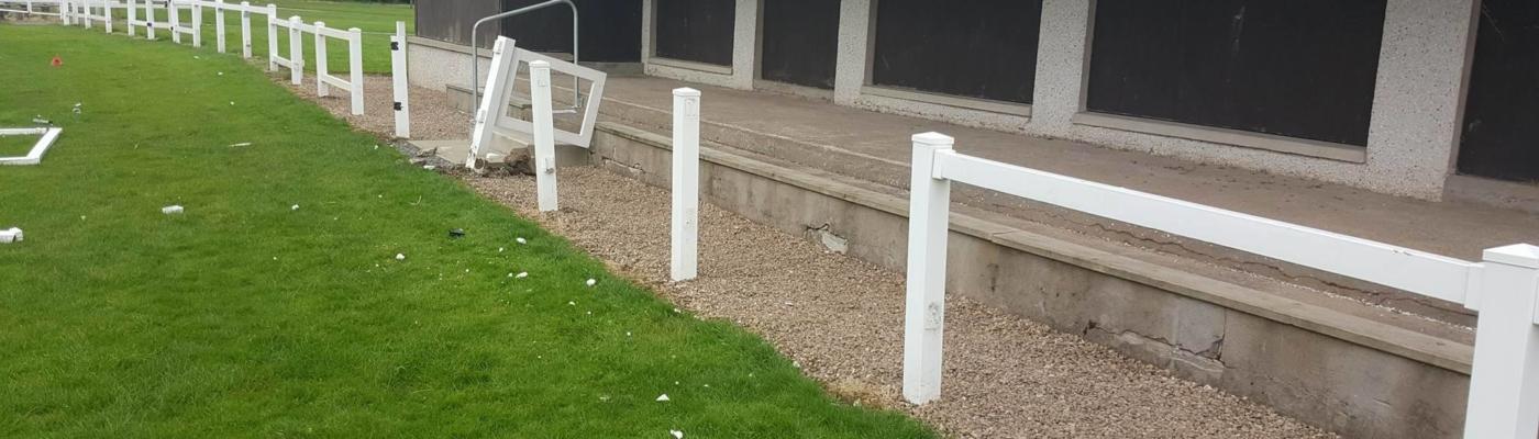 Vandalism at the Den