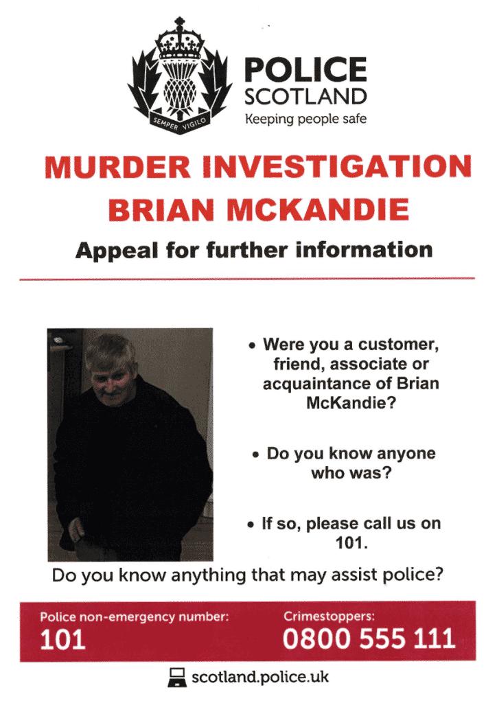 Brian McKandie appeal poster