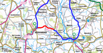 B9025 Aberchirder to Turriff Road day time closures until 26 February