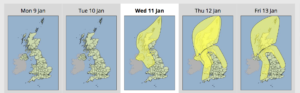 Weather warnings issued for later this week