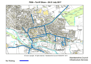 Map of Turriff Show parking restrictions