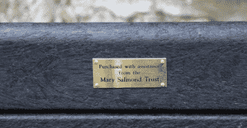 Alex Salmond dedicates bench at Turriff Cemetery