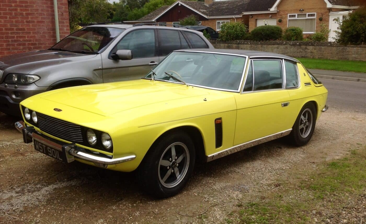 A yellow Jenson Interceptor III Auto