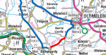 B9170 Oldmeldrum to Inverurie road closed for two weeks