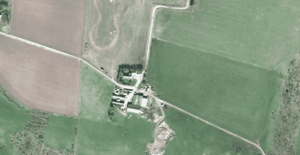 Google satellite map of East Mains of Ardlogie farm