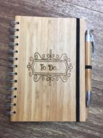 A5 Wooden Notebook & Pen (can be personalised)