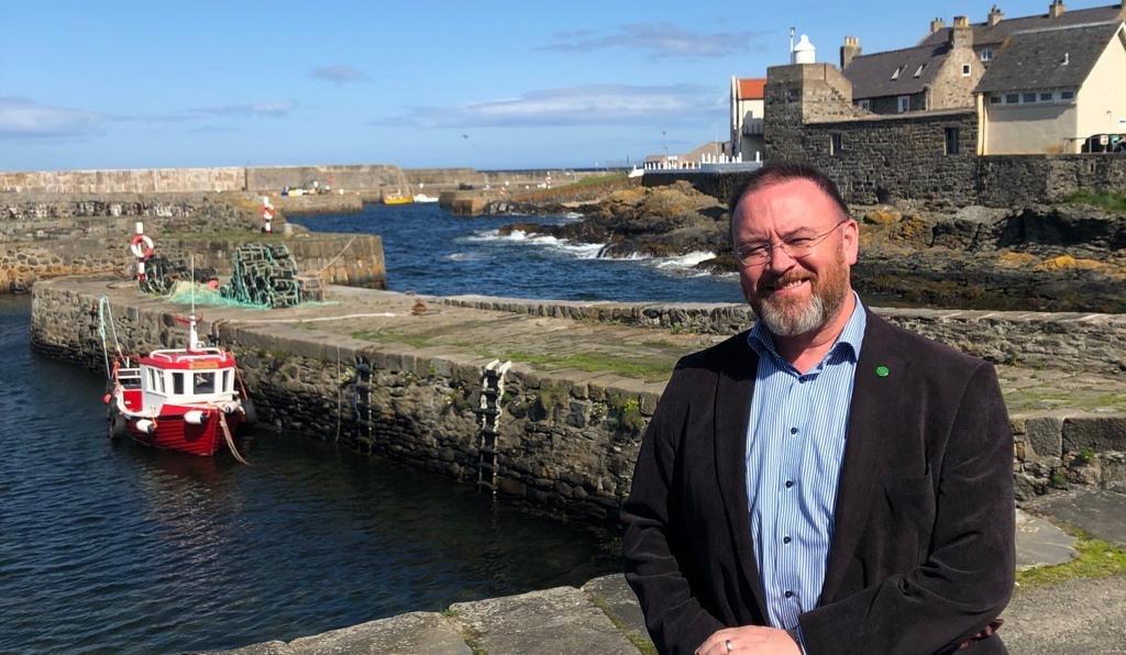 David Duguid MP at Portsoy harbour