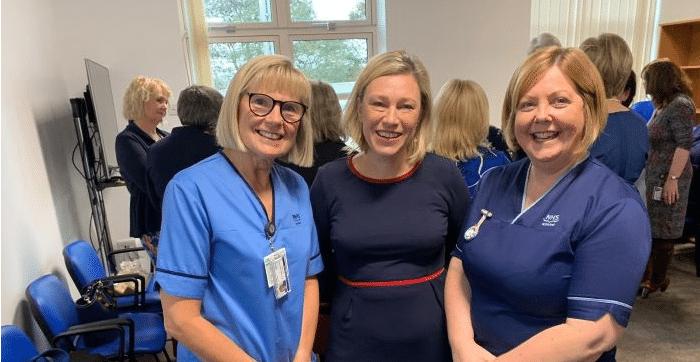 Gillian Martin MSP with NHS Grampian nurses